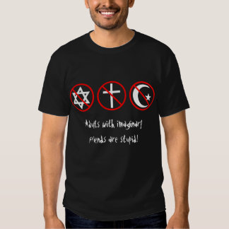 Adults with imaginary friends are stupid! t-shirts