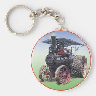 Advance Steam Traction Engine Basic Round Button Keychain