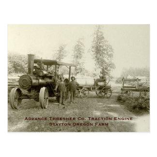 Advance Thresher Co. Steam Traction Engine Postcard