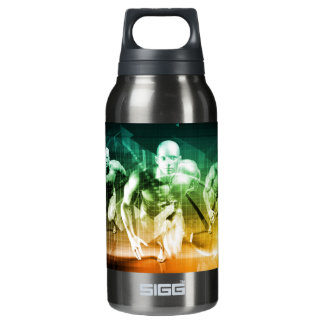 Advanced Technology as a IT Concept Background Insulated Water Bottle