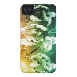 Advanced Technology as a IT Concept Background iPhone 4 Case