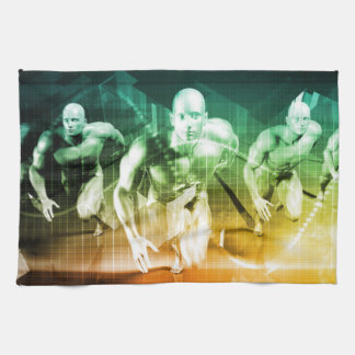 Advanced Technology as a IT Concept Background Kitchen Towel