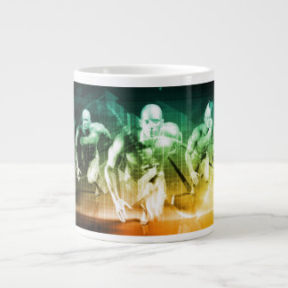 Advanced Technology as a IT Concept Background Large Coffee Mug