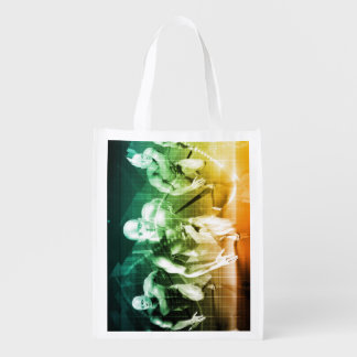 Advanced Technology as a IT Concept Background Reusable Grocery Bag