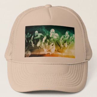 Advanced Technology as a IT Concept Background Trucker Hat
