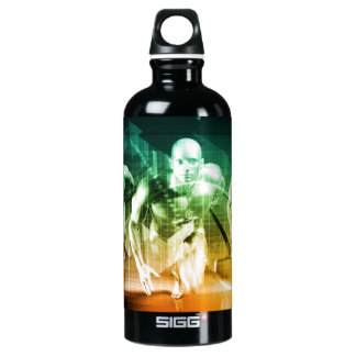 Advanced Technology as a IT Concept Background Water Bottle