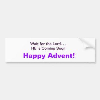 Advent Bumper Sticker
