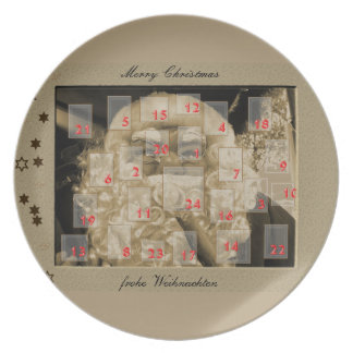 Advent calendar with nikolaus party plates