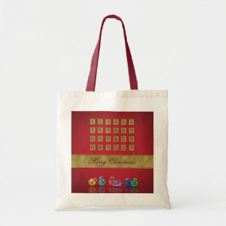 Advent Calendar with Ornaments - Budget Tote
