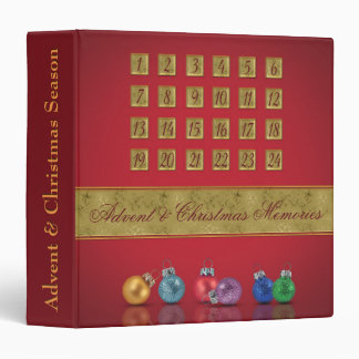 Advent Calendar with Ornaments Memories Binder