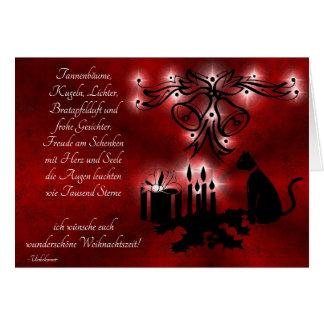 Advent, Christmas, poem on German Card