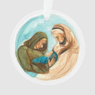 Advent Jesse Tree Manger Ornament