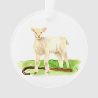 Advent Jesse Tree Staff and Lamb Ornament