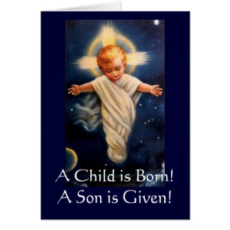 Advent Propter Nos, A Child is Born! Card