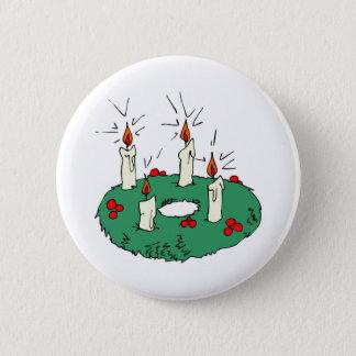 Advent Wreath 2 Inch Round Button