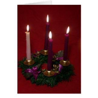 Advent wreath card