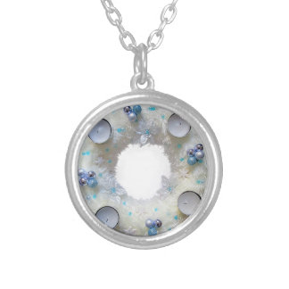 advent wreath silver plated necklace