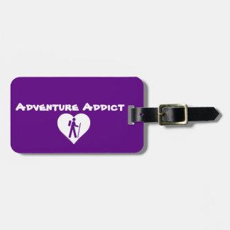 """Adventure Addict"" Luggage Tag"