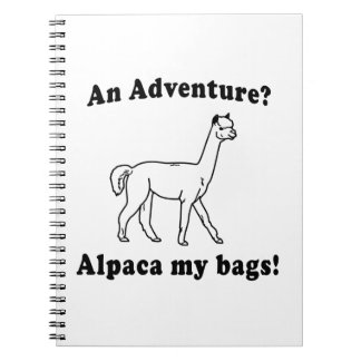 Adventure Alpaca Notebook