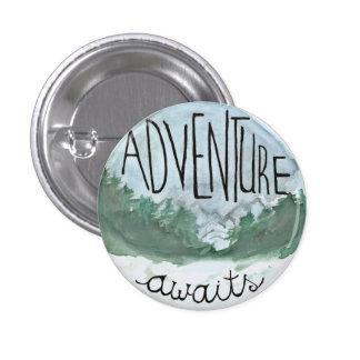 Adventure Awaits 1 Inch Round Button