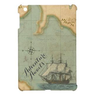 Adventure Awaits Antique Map iPad Mini Cover