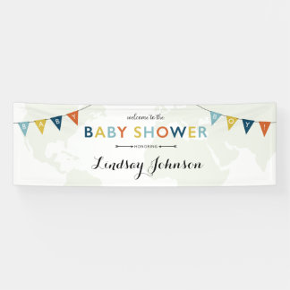 Adventure Awaits Baby Boy Banner