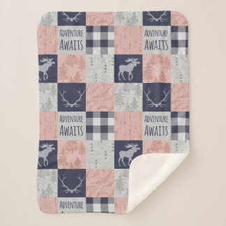 Adventure Awaits Baby Girl Minky Blanket