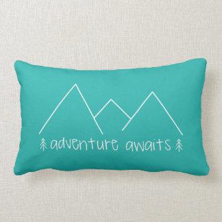 Adventure Awaits Lumbar Pillow