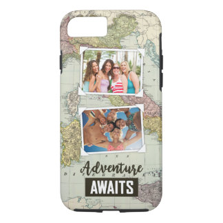 Adventure Awaits Map | Upload Your Own Photos iPhone 7 Case