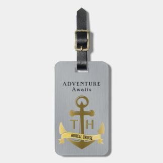Adventure Awaits Nautical Anchor Cruise Vacation Luggage Tag