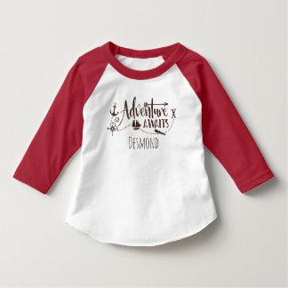 """Adventure Awaits"" Nautical Personalized T-Shirt"