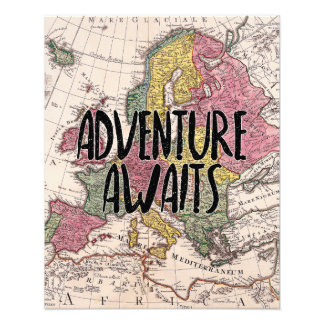 Adventure Awaits Nursery Art Photo Print