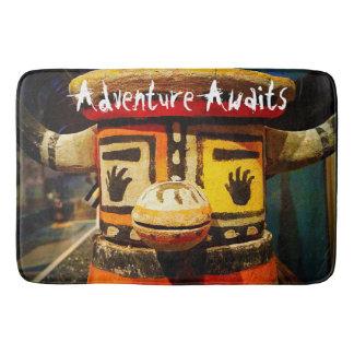 """Adventure Awaits"" Quote Cute Funny Face Photo Bath Mat"