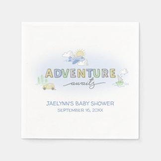 Adventure Awaits Travel - Personalized Napkin