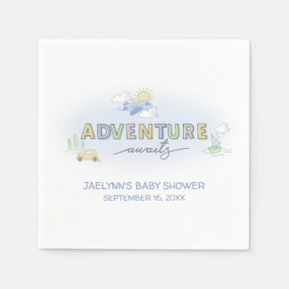 Adventure Awaits Travel - Personalized Paper Napkins