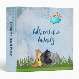 Adventure Awaits - Travel Photo Album Vinyl Binder