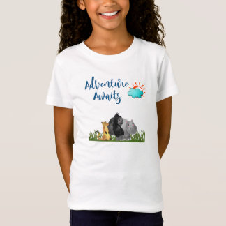 Adventure Awaits Watercolor Safari Jungle Animals T-Shirt