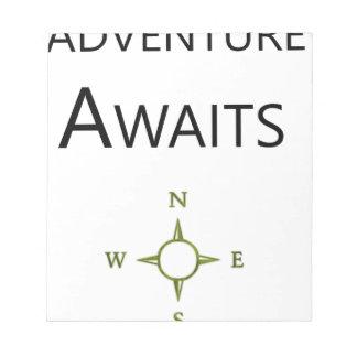 Adventure Awaits Wee One BEAUTIFUL Notepad