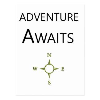 Adventure Awaits Wee One BEAUTIFUL Postcard
