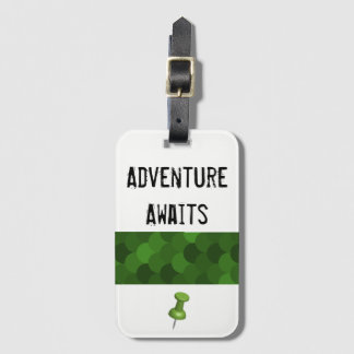 Adventure Awaits - white Luggage Tag