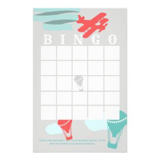Adventure Baby Shower Bingo Stationery