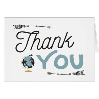 Adventure Baby Shower Thank You Card