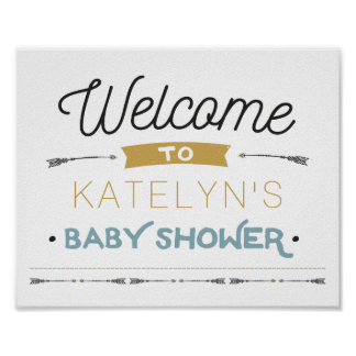 Adventure Baby Shower Welcome Sign