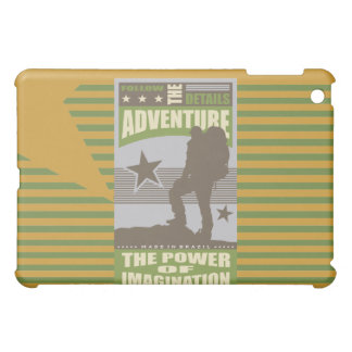 Adventure Backpacking Gold  iPad Mini Cover