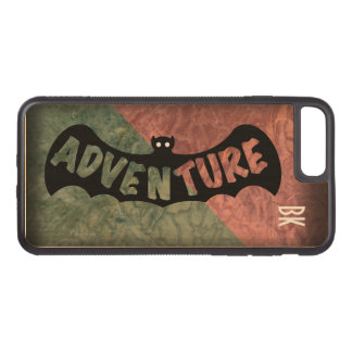 ADVENTURE BAT GREEN and RED by Slipperywindow Carved iPhone 7 Plus Case