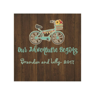 Adventure Begins Bike Wood Wall Decor