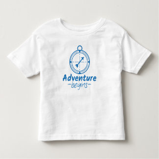 Adventure Begins Toddler T-shirt
