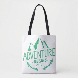 Adventure Begins Tote Bag