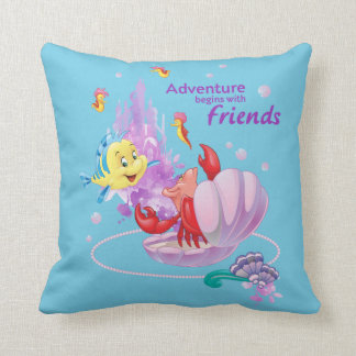 Adventure Begins With Friends Throw Pillow