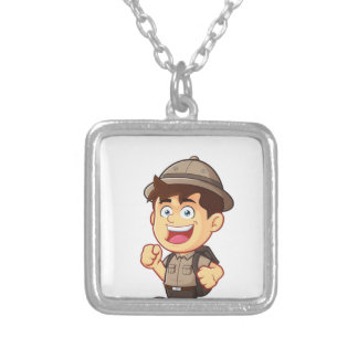 Adventure Boy Silver Plated Necklace